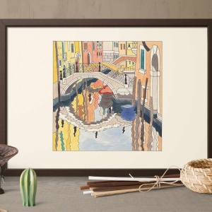 Canal-crossed-by-three-bridges-colori