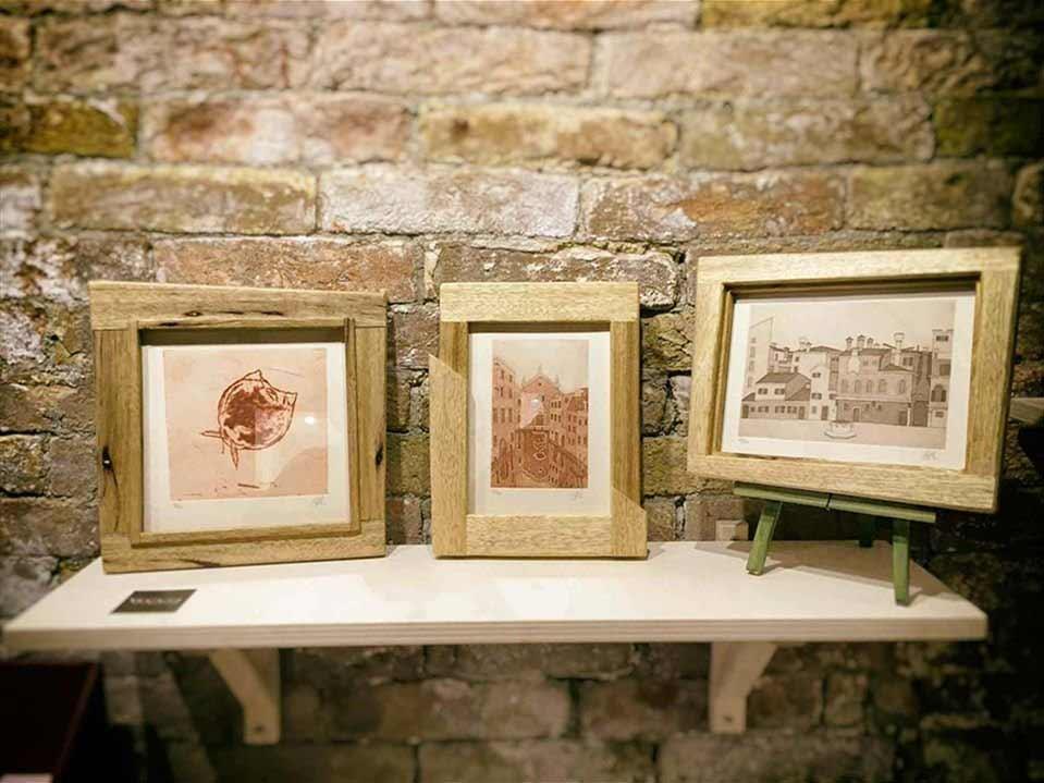 Handmade frames for handmade prints - Plum Plum Creations