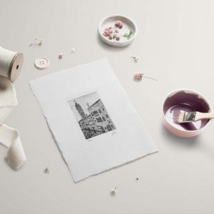 campanile dei greci color nero su carta bianca